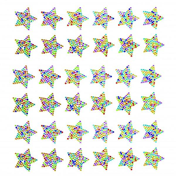 Kristallidega tähe kleepsud pakis 12 tk.