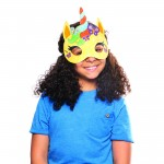 Värviline ükssarviku mask (8 tk. pakis)