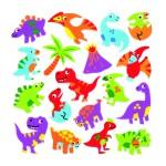 Dinosauruse kleepsud pakis on 120 tk.