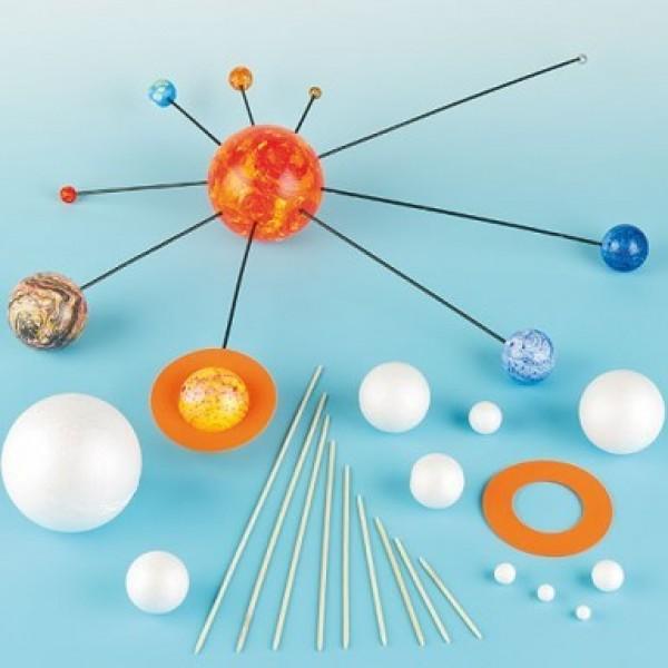 3D päikesesüsteemi valmistamise komplekt - 2 komplekti pakis