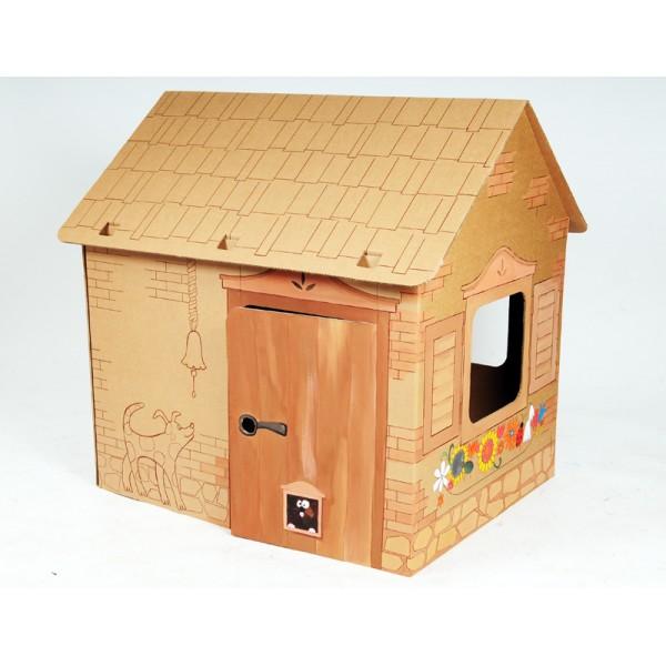 Papist Maja Cabin (pruun) Värvi ja mängi
